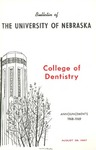 Bulletin of the College of Dentistry, 1968-1969 by University of Nebraska