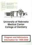 Bulletin of the College of Dentistry, Supplement, 1999-2000