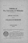 Bulletin of the University of Nebraska: Annual Catalog of the College of Medicine, 1920-1921