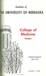 Bulletin of the University of Nebraska: Annual Catalog of the College of Medicine, 1966-1967