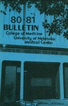 Bulletin of the University of Nebraska: Annual Catalog of the College of Medicine, 1980-1981