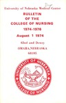 Bulletin of the College of Nursing, 1974-1976