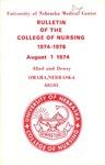 Bulletin of the College of Nursing, 1974-1976
