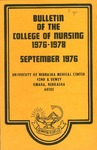 Bulletin of the College of Nursing, 1976-1978