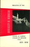 Bulletin of the School of Nursing, 1955-1956