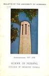 Bulletin of the School of Nursing, 1957-1958