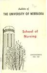 Bulletin of the School of Nursing, 1960-1961