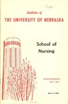 Bulletin of the School of Nursing, 1961-1962