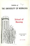Bulletin of the School of Nursing, 1962-1963