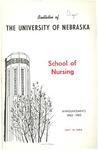 Bulletin of the School of Nursing, 1962-1963