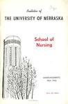 Bulletin of the School of Nursing, 1964-1965
