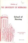 Bulletin of the School of Nursing, 1967-1968