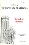 Bulletin of the School of Nursing, 1968-1969
