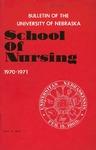 Bulletin of the School of Nursing, 1970-1971
