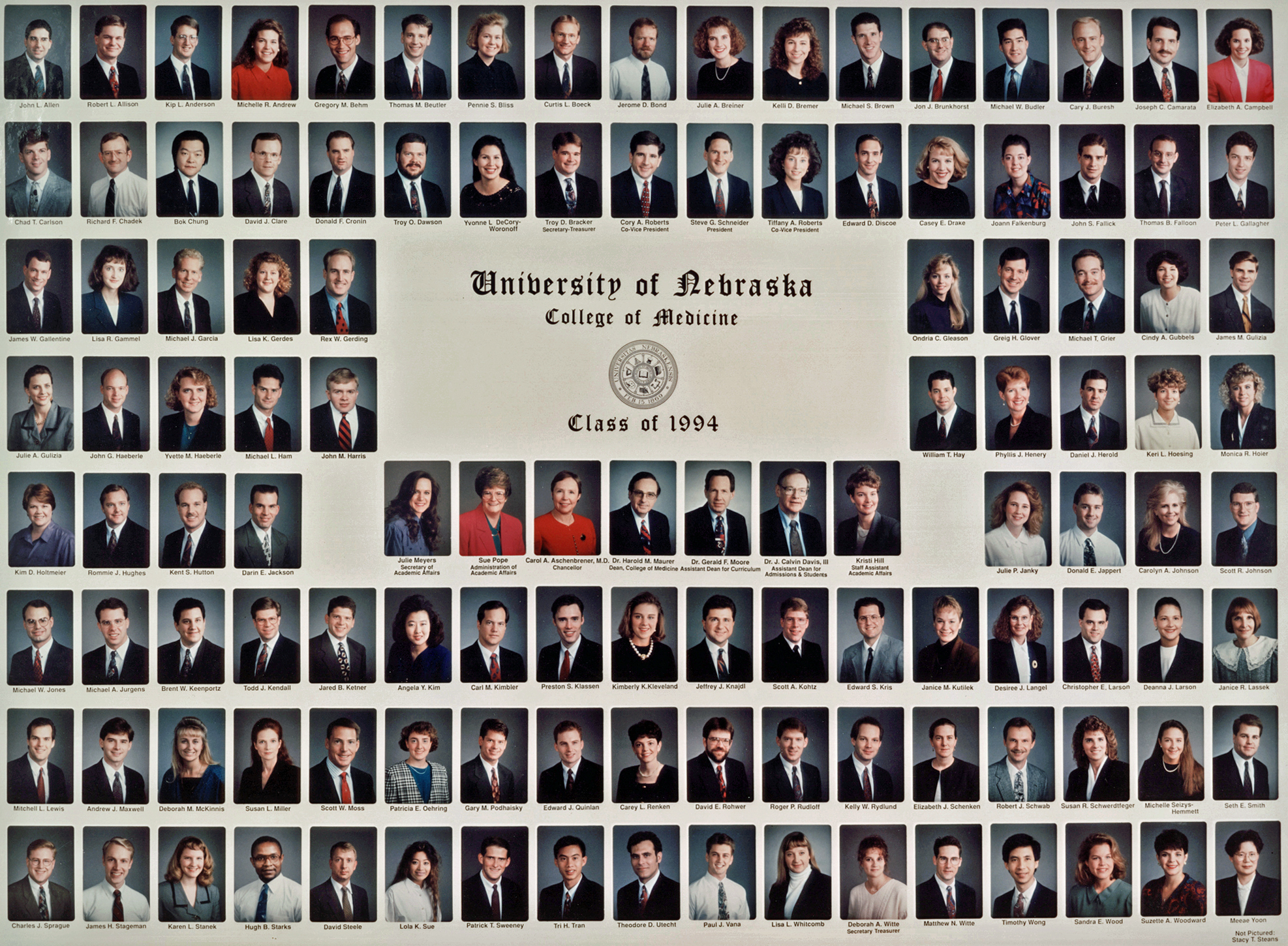 university of nebraska college of medicine class of  title