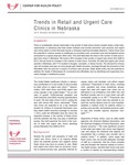 Trends in Retail and Urgent Care Clinics in Nebraska by Jim P. Stimpson and Marlene Deras