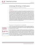 Underage Drinking in Nebraska by Sarbinaz Bekmuratova, Nicole carritt, Tim Kaldahl, and Jim P. Stimpson