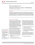 Policy Analysis of Impaired Driving Laws in Nebraska by Jim P. Stimpson and Kelly Shaw-Sutherland