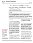 Active Primary Care Physicians in Nebraska: Data Comparison, Supply, and Characteristics