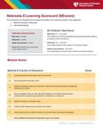 Nebraska E-Learning Scorecard (NEscore) by Tammy Webster, Alissa Fial, Peggy Moore, Shireen Rajaram, Ron Shope, and H. Dele Davies