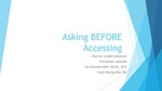 Asking Before Accessing by Jennifer Baumert and Carly Hornig
