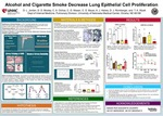 Alcohol and Cigarette Smoke Decrease Lung Epithelial Cell Proliferation