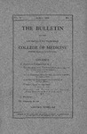 The Bulletin of the University of Nebraska College of Medicine, Volume 04, No. 2, 1909
