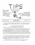 TIPS, Volume 07, No. 1 & 2, 1987